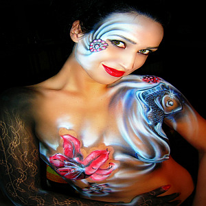 Koi Body painting - by Alessandro Rinaldi